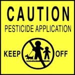 lawn care pollution Pesticide Application Warning